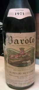 1971 A. Settimo Barolo Riserva
