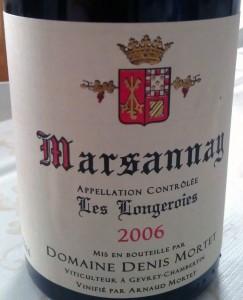 2006 Denis Mortet Marsannay Les Longeroies