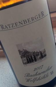 2007 Ratzenberger Bacharacher Wölfshöhle GG