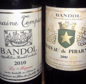 Bandol - Tempier og Pibarnon